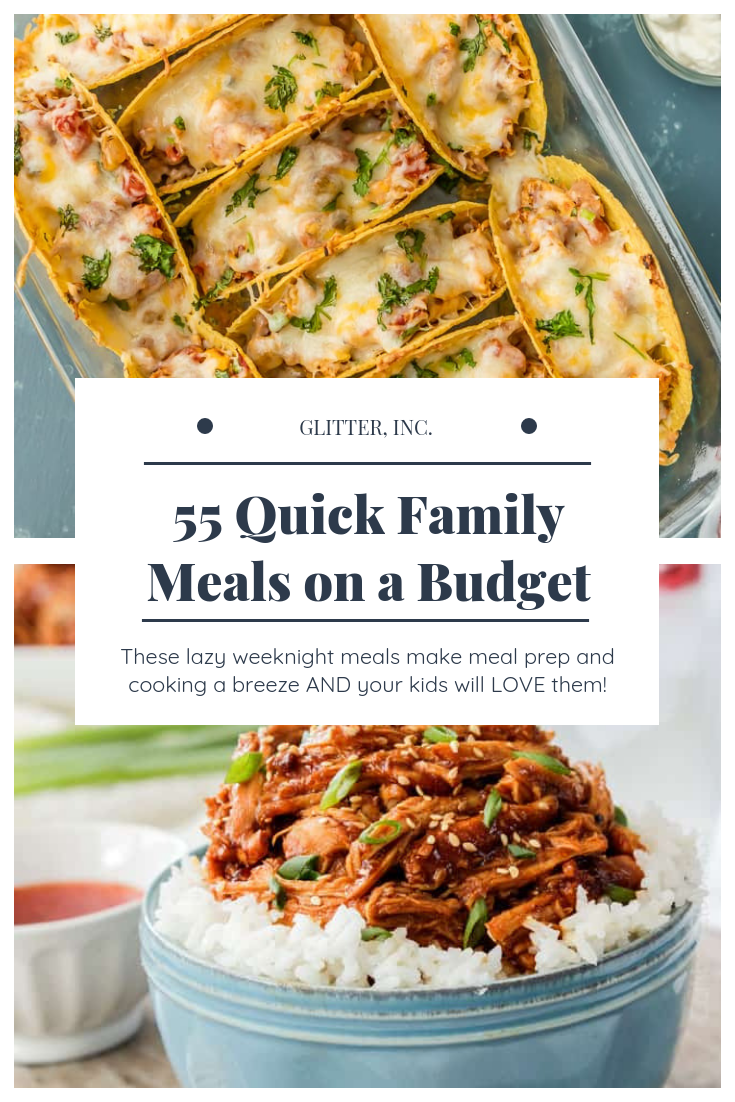 Delicious Quick Family Meals On A Budget Glitter Inc