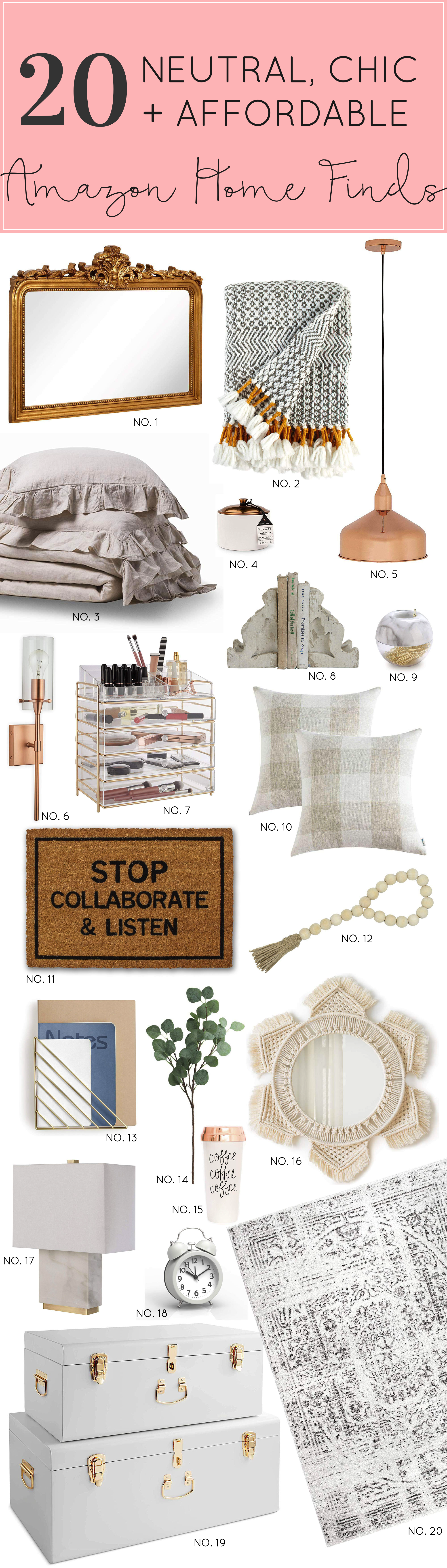 Update your space this season with a few of these gorgeous and neutral Amazon home décor finds. Click through for the details. | glitterinc.com
