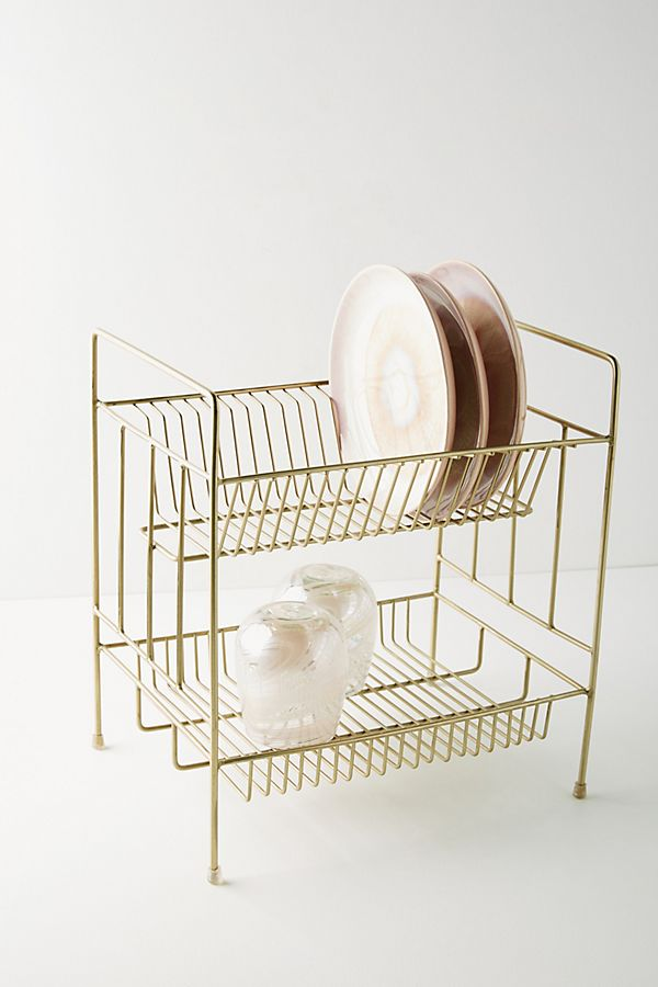 My favorite weekly finds, including this Anthropologie Brass Dish Rack | Click through for the details. | glitterinc.com | @glitterinc