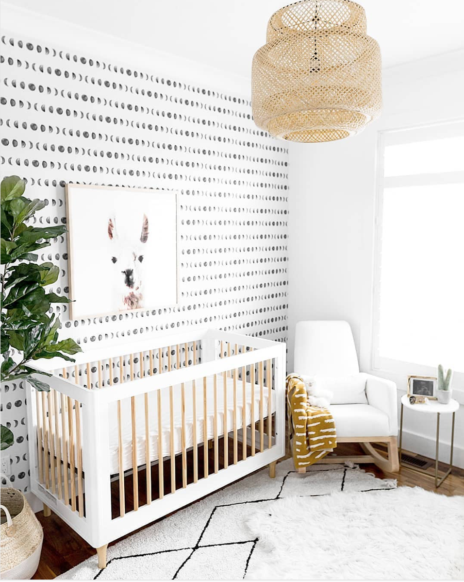 Here are 10 impossibly chic nurseries spotted on Instagram, including this Black and White Gender Neutral Nursery via @j.vangaalen | Click through for the details. | glitterinc.com | @glitterinc