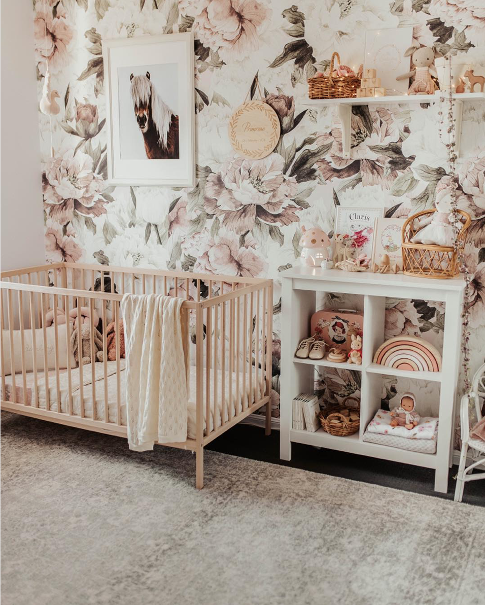 Here are 10 impossibly chic nurseries spotted on Instagram, including this Dusty Rose Girls Nursery | Click through for the details. | glitterinc.com | @glitterinc