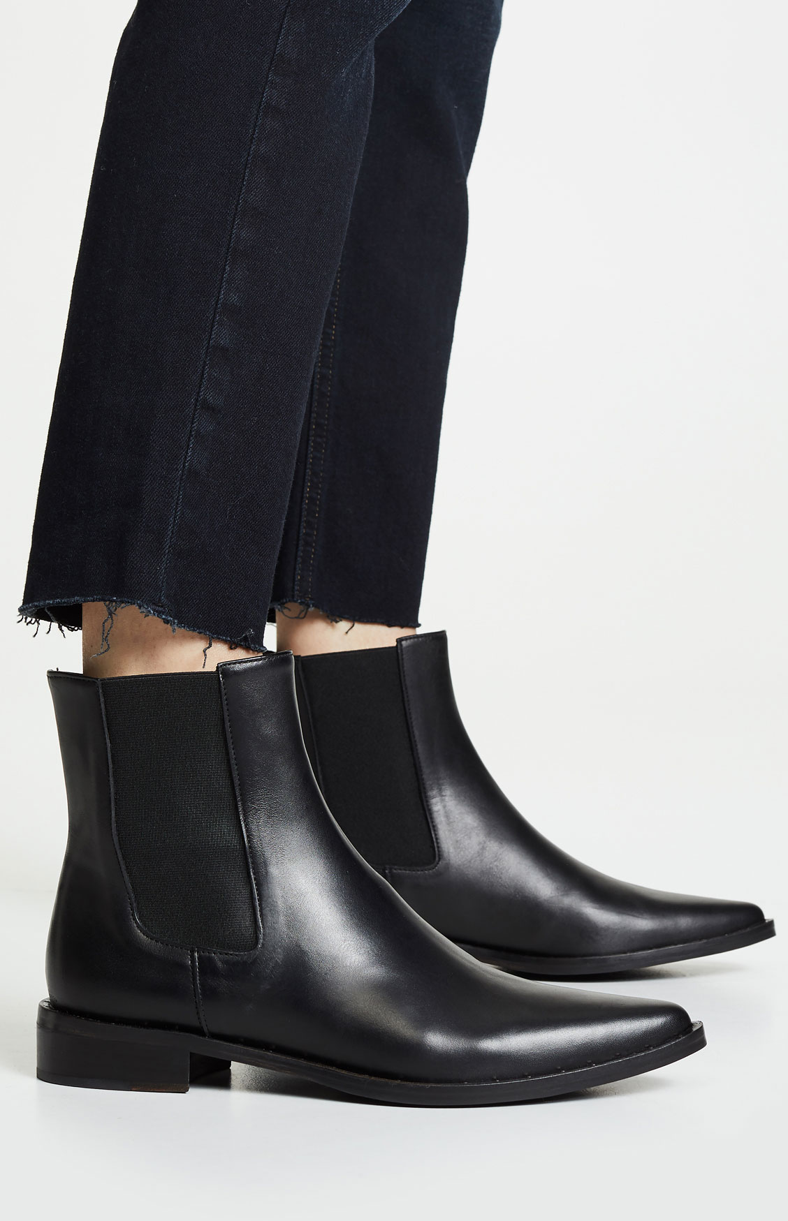 Freda Salvador Joan Pointed Toe Chelsea Boots
