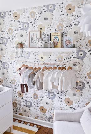 Gorgeous Feminine Wallpapered Girls Nursery