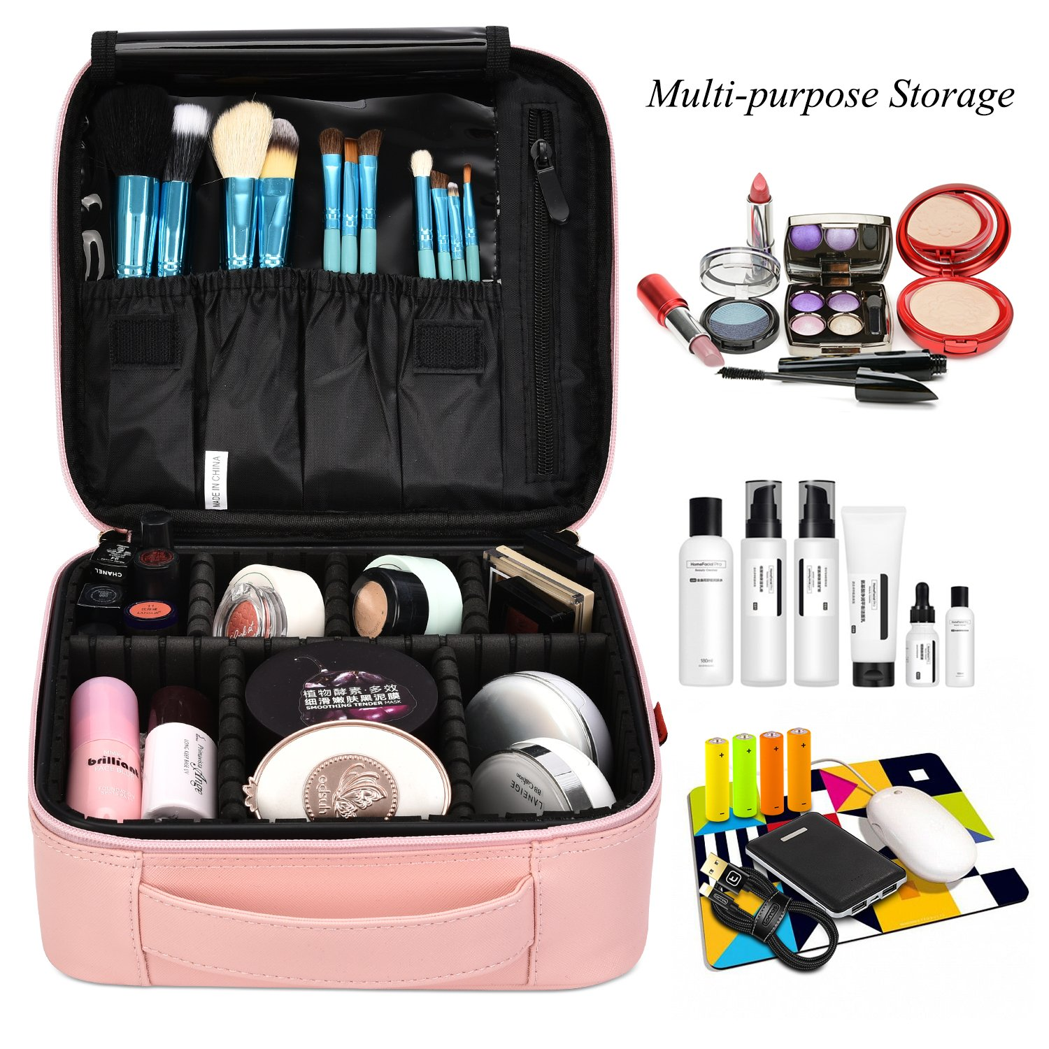 Lifestyle blogger Lexi of Glitter, Inc. shares her favorite weekly finds from around the web, including this NiceEbag Travel Makeup Bag Portable rain Case Storage Organizer with Adjustable Dividers | glitterinc.com | @glitterinc