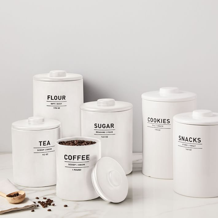 Lifestyle blogger Lexi of Glitter, Inc. shares her favorite weekly finds from around the web, including her favorite West Elm Utility Kitchen Canisters | glitterinc.com | @glitterinc