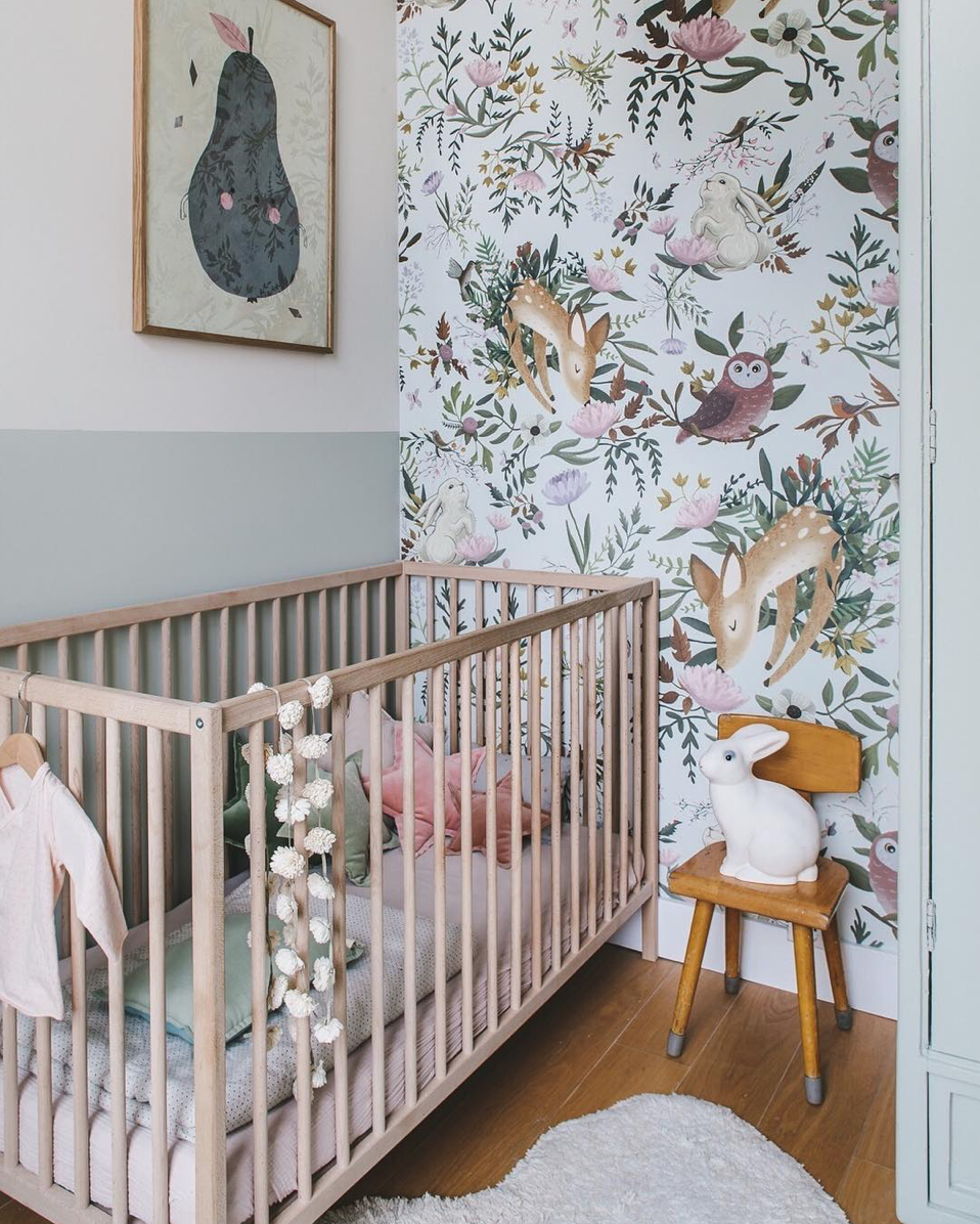 Here are 10 impossibly chic nurseries spotted on Instagram, including this Woodland Inspired Nursery | Click through for the details. | glitterinc.com | @glitterinc
