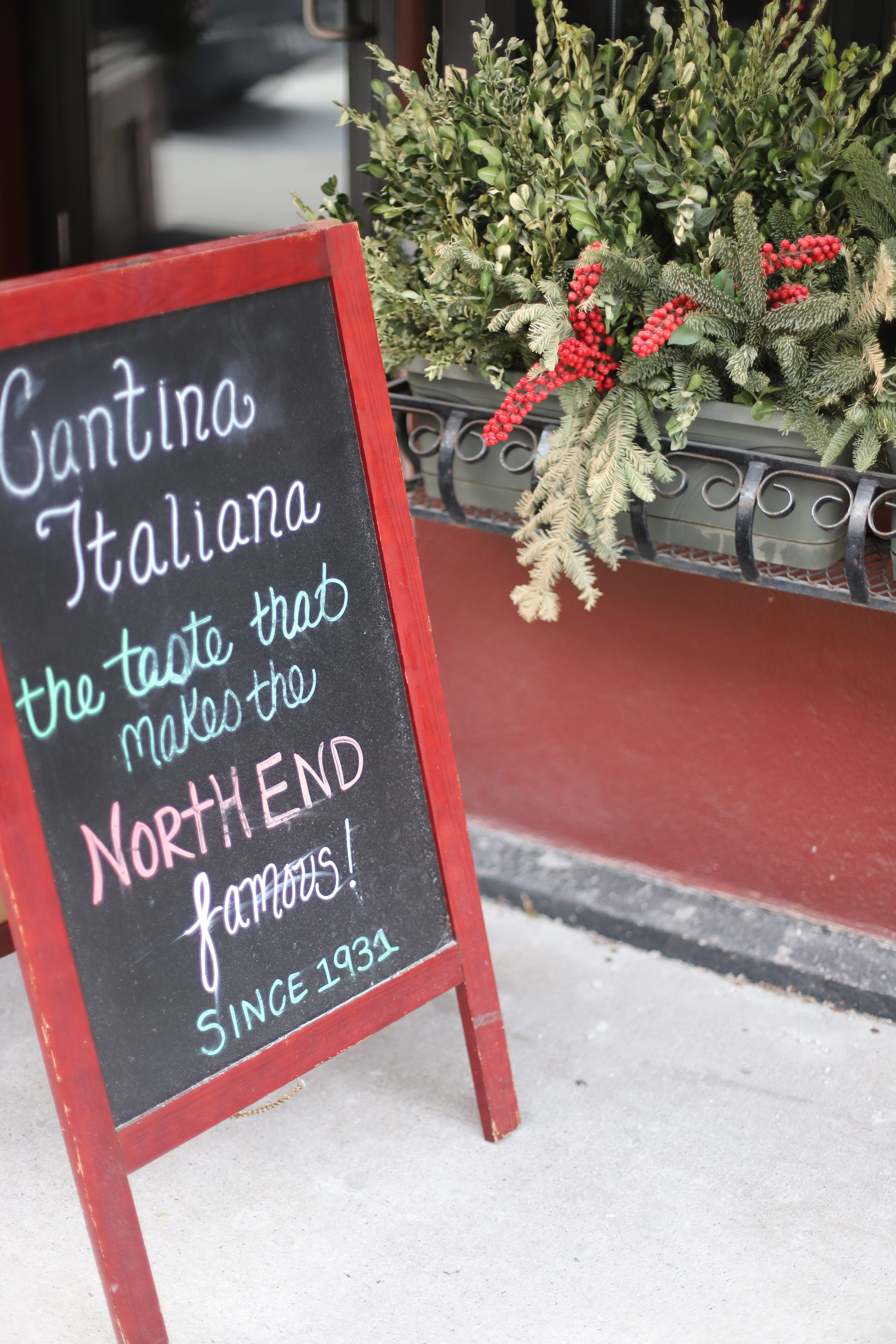 We fell into Cantina Italiana in Boston and it was delicious.