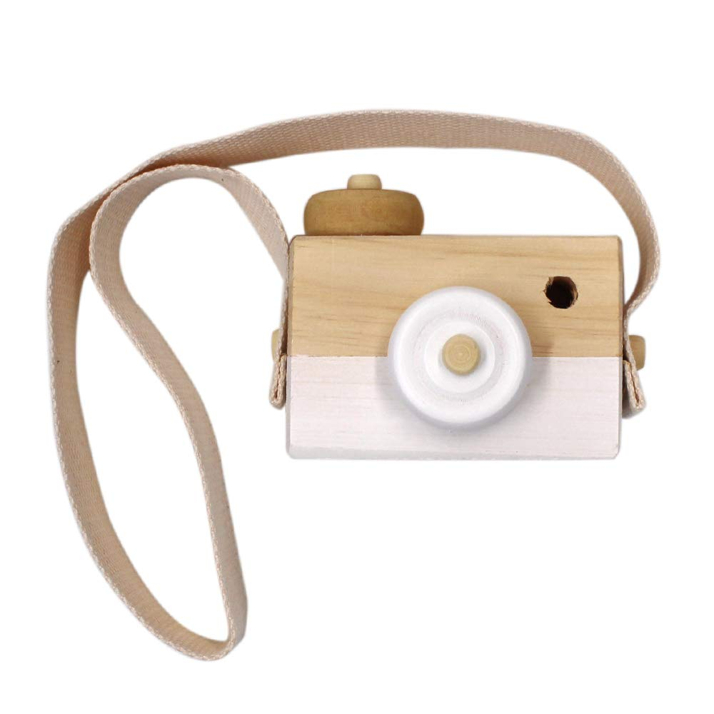 Allywit Baby Kids Cute Wood Camera Toy