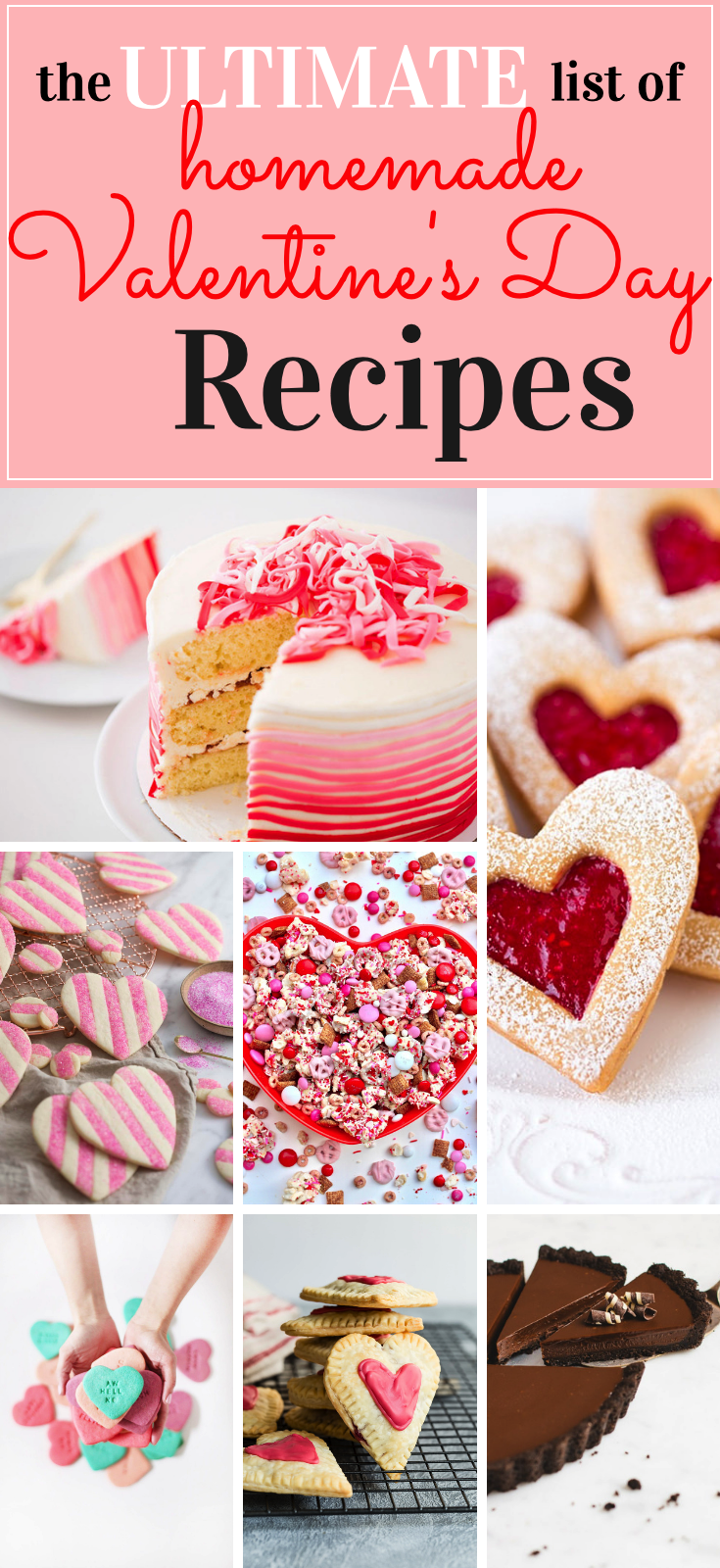 Homemade Valentine's Day treats are some of my absolute favorites to make, so if you're looking for a little recipe inspiration to celebrate love, we have the ultimate list with more than 50+ incredible recipes to try this February. | glitterinc.com | @glitterinc
