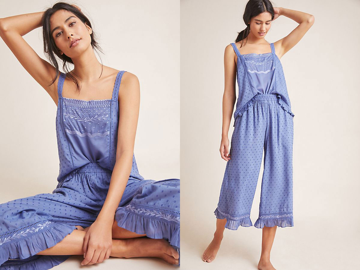 Anthropologie Wynonna Sleep Cami + Sleep Pants