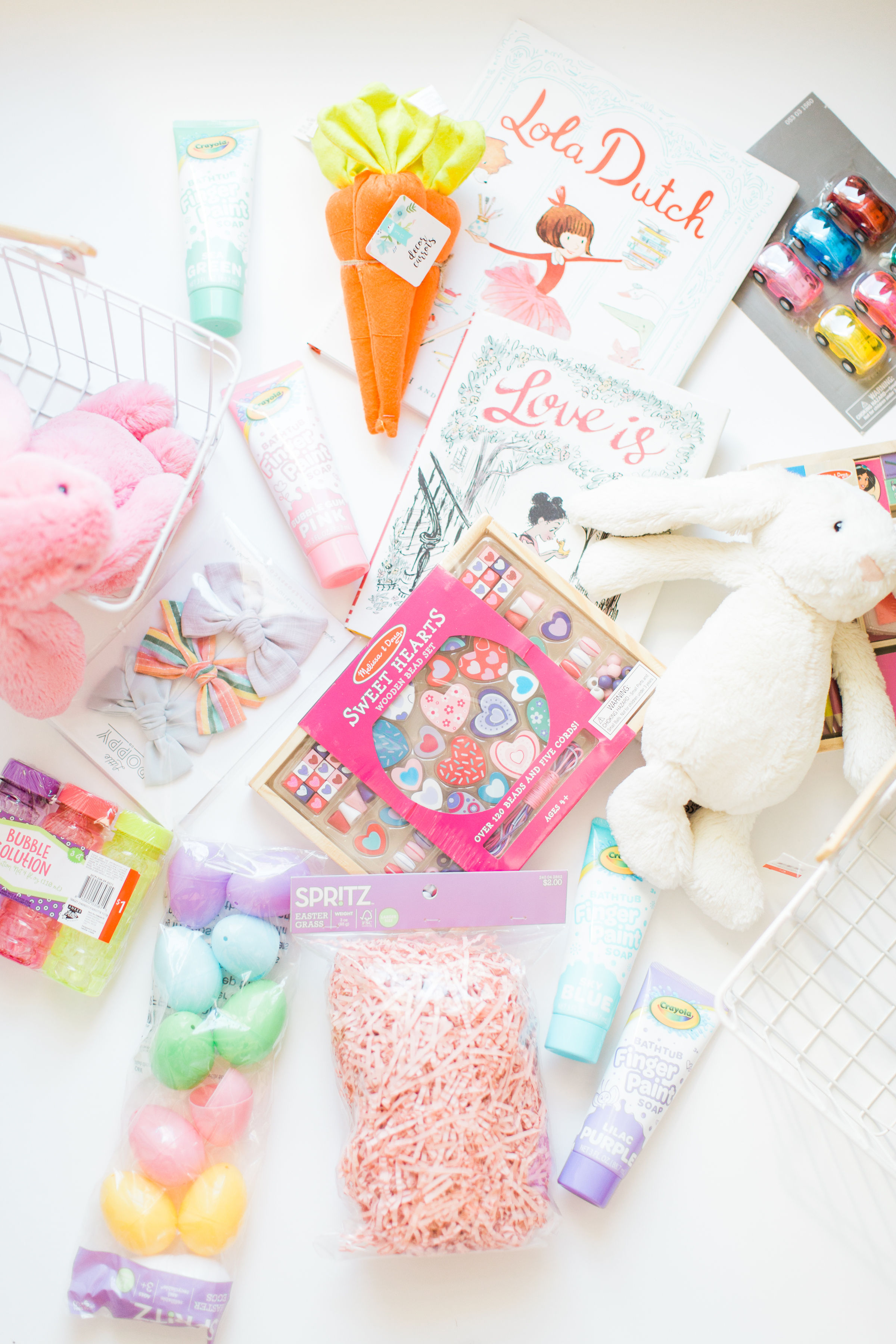 Get inspired this spring and put together the sweetest DIY Easter baskets for your kids. We're showing you everything we put in our own kids' Easter baskets this year and how to make your own! | glitterinc.com | @glitterinc