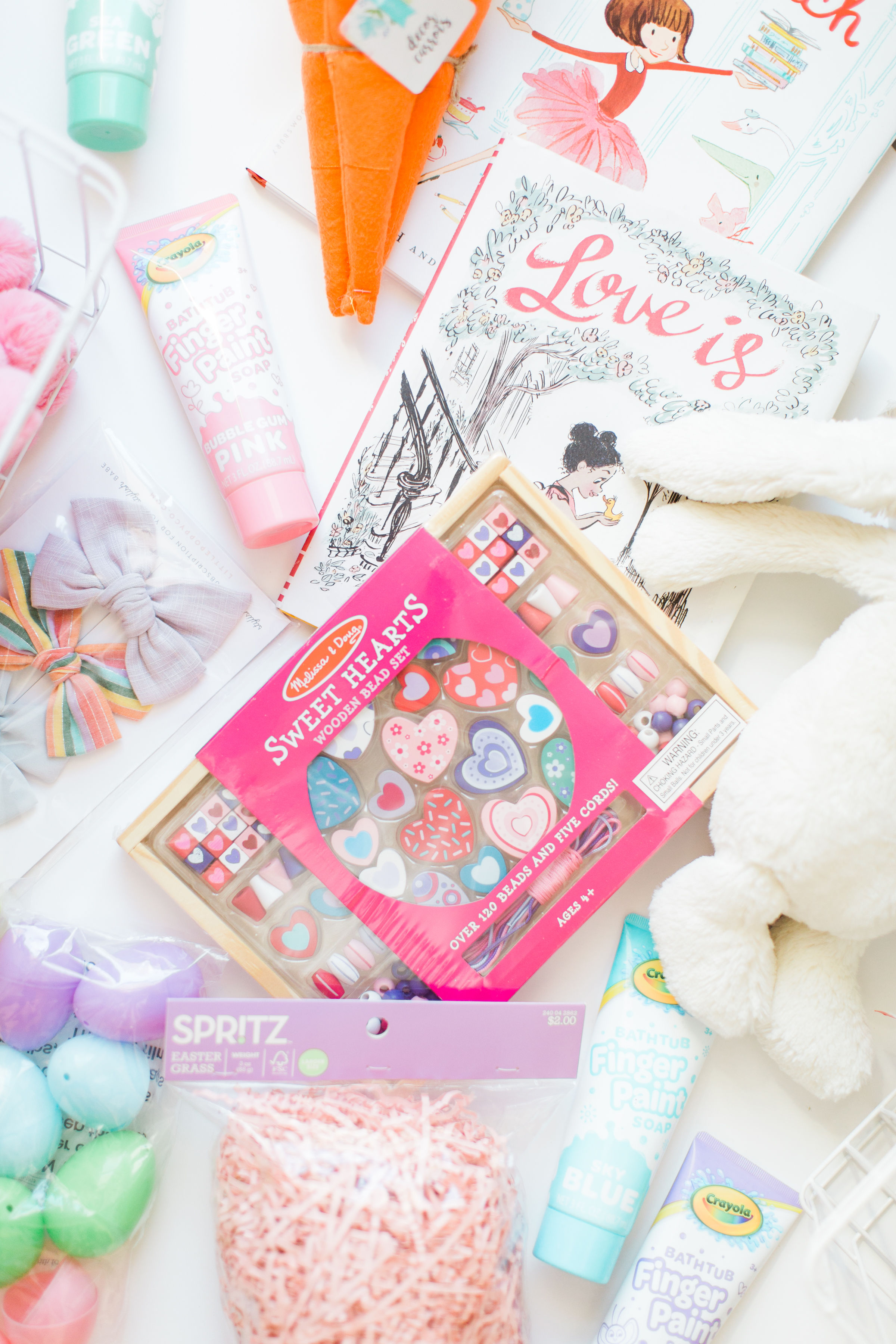 Now let's get to it: here's exactly what we put in our little girls' Easter baskets this year.