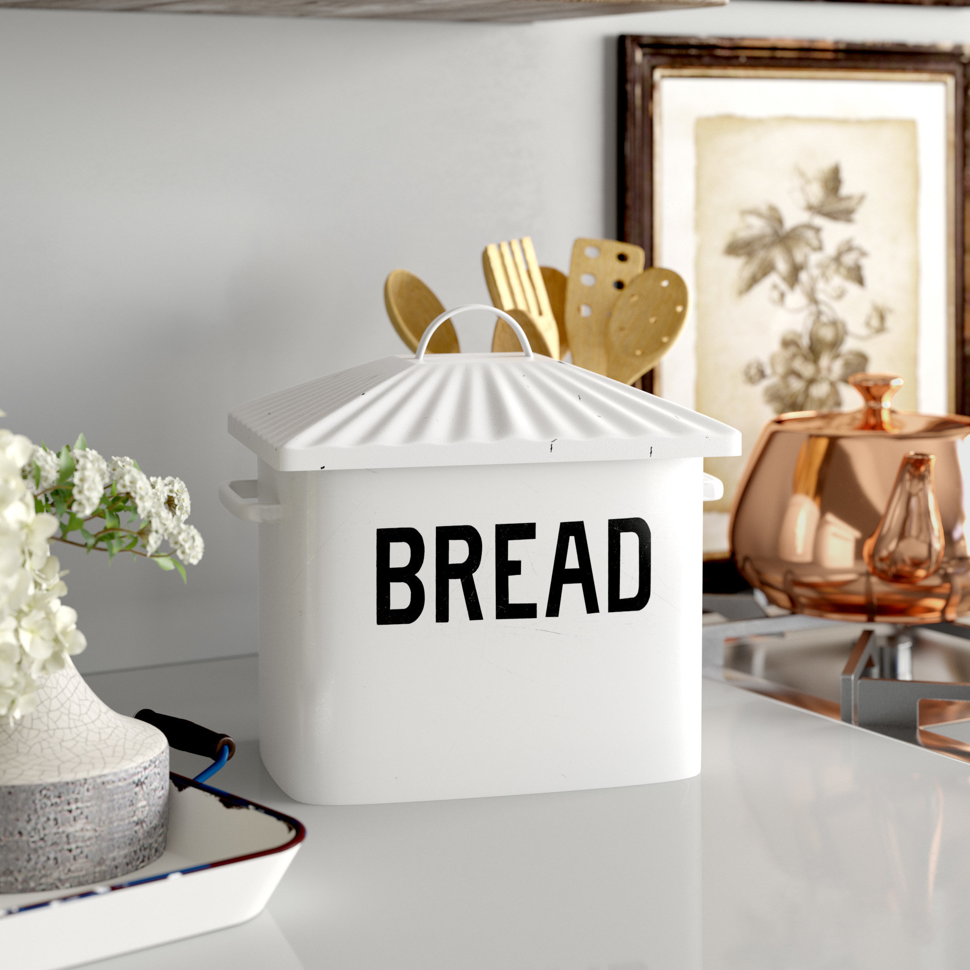 Laurel Foundry Modern Farmhouse Selim Bread Box - Spring Has Finally Sprung