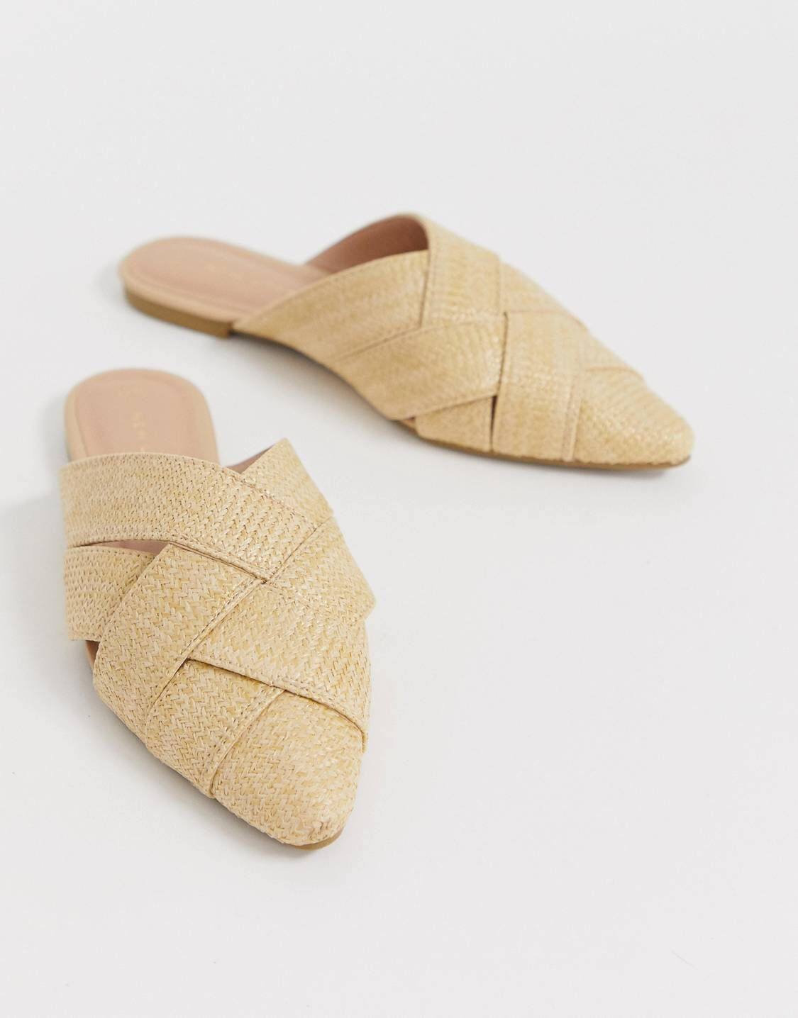 New Look Woven Mule in Off White