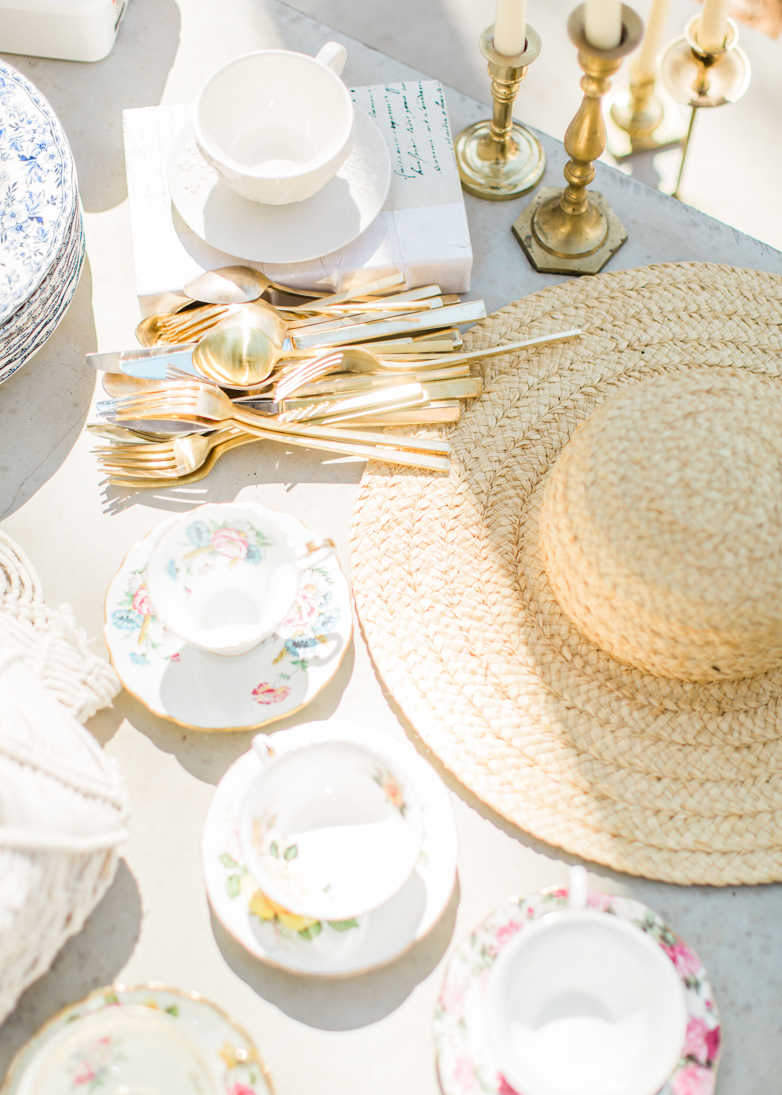 a whimsical outdoor spring tea and dessert party.
