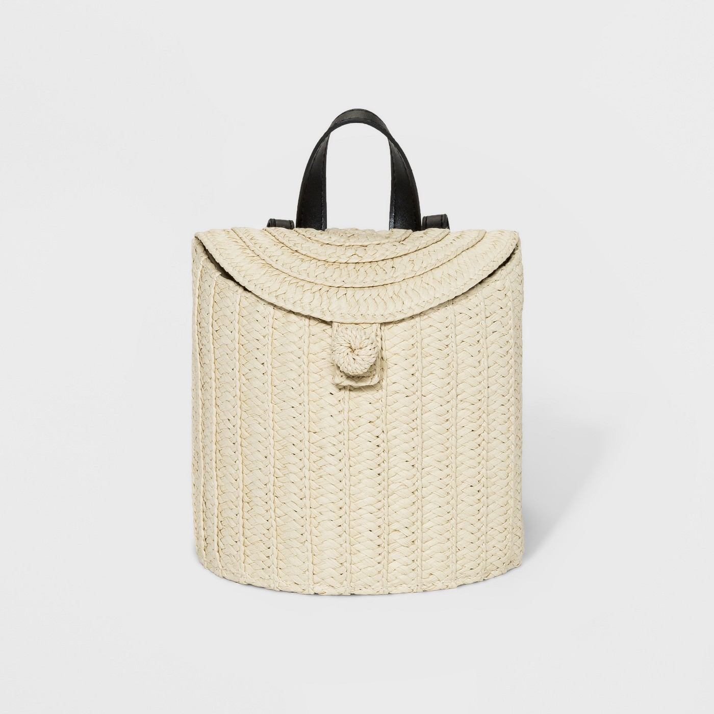 A New Day Women's Straw Basket Backpack in Natural