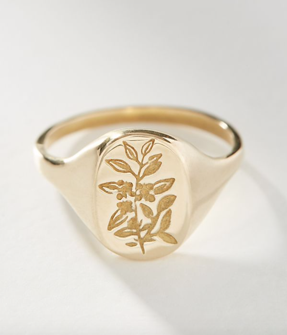 favorite weekly finds from around the web, including this Anthropologie Claus Flower Signet Ring | glitterinc.com | @glitterinc