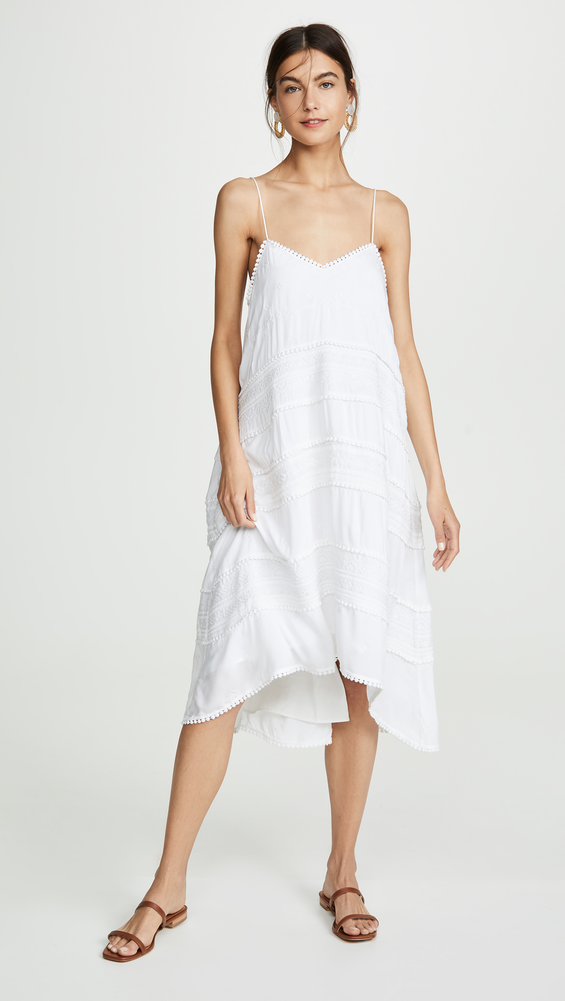 Spring dresses, including Club Monaco Hayzehl Embroidered Midi Dress | glitterinc.com | @glitterinc