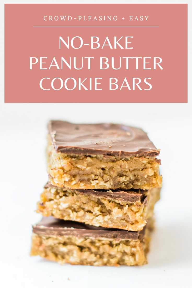 Sheet pan chocolate peanut butter oatmeal cookie bars are simple to whip up, incredibly yummy, and can easily feed a crowd. These easy cookies are a total fan favorite! Click through for the recipe. | glitterinc.com | @glitterinc
