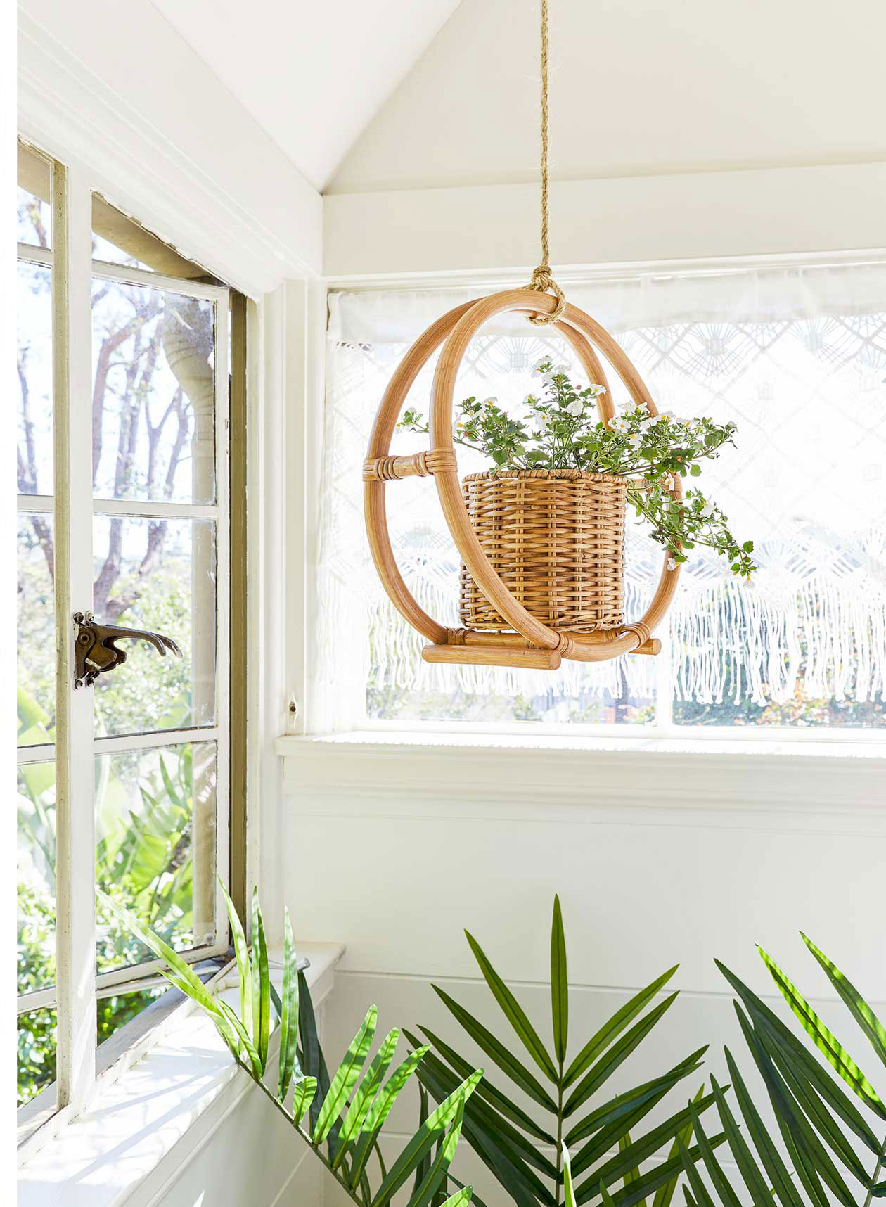 Gorgeous Finds at Target  - Opalhouse Rattan Round Hanging Planter in Natural