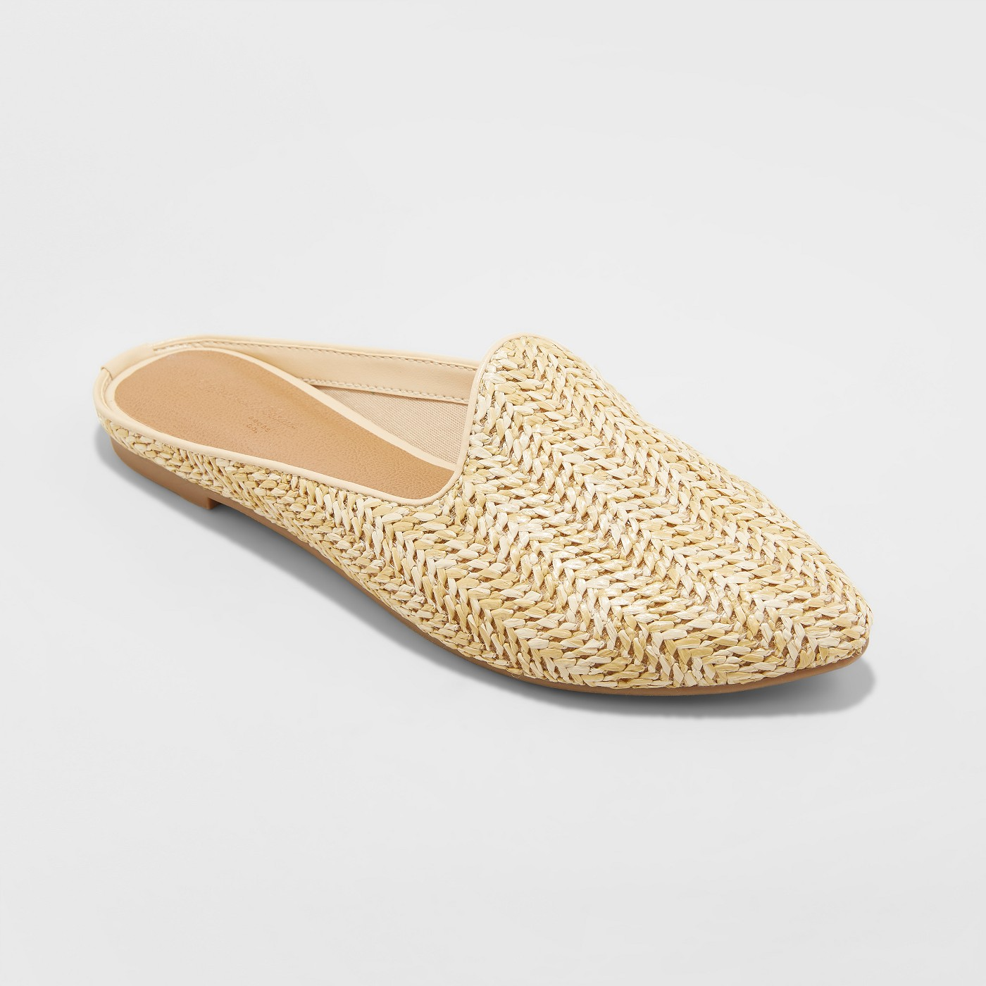 Universal Thread Women's Violet Woven Backless Mules