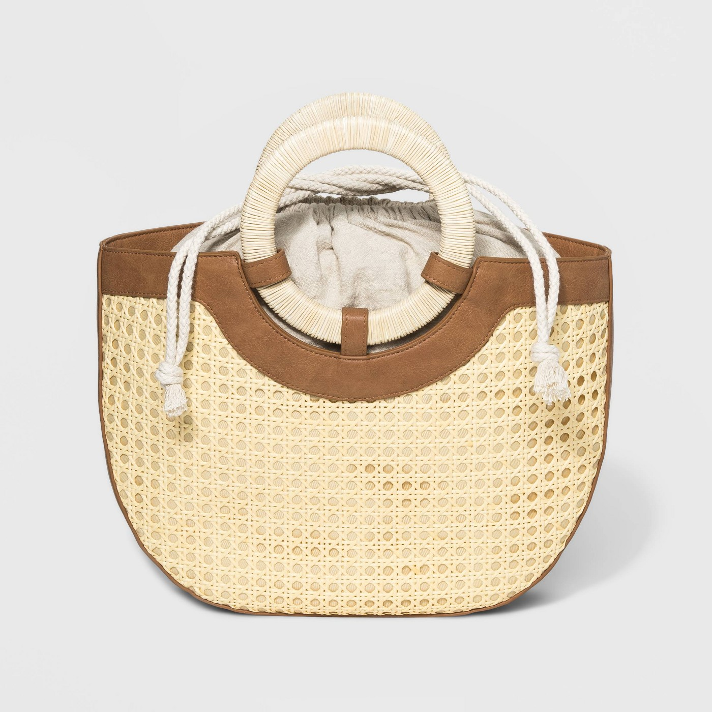 Gorgeous Finds at Target  - Universal Thread Natural Half Moon Satchel Handbag