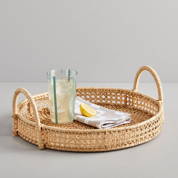 favorite weekly finds from around the web, including this West Elm Rattan Round Tray | glitterinc.com | @glitterinc