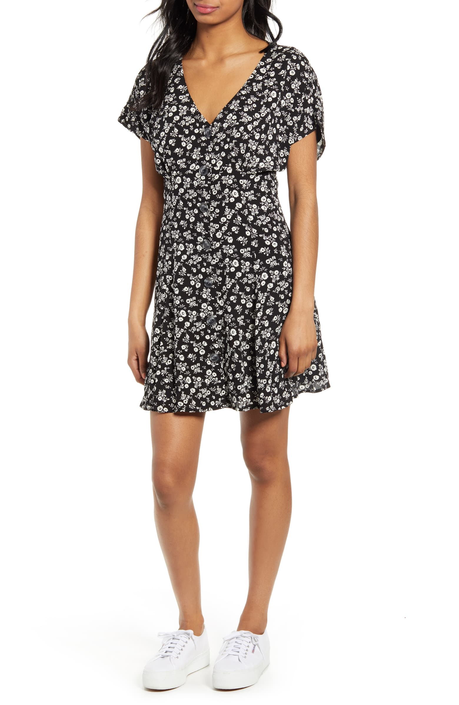 BP. Button Front Prairie Minidress