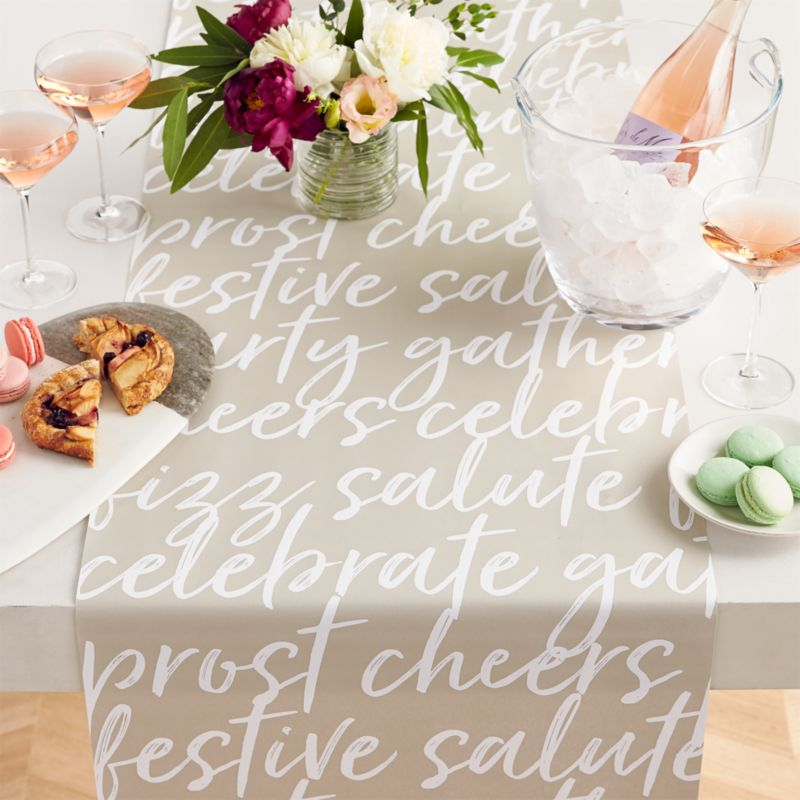 Crate and Barrel Celebrate Paper Table Runner
