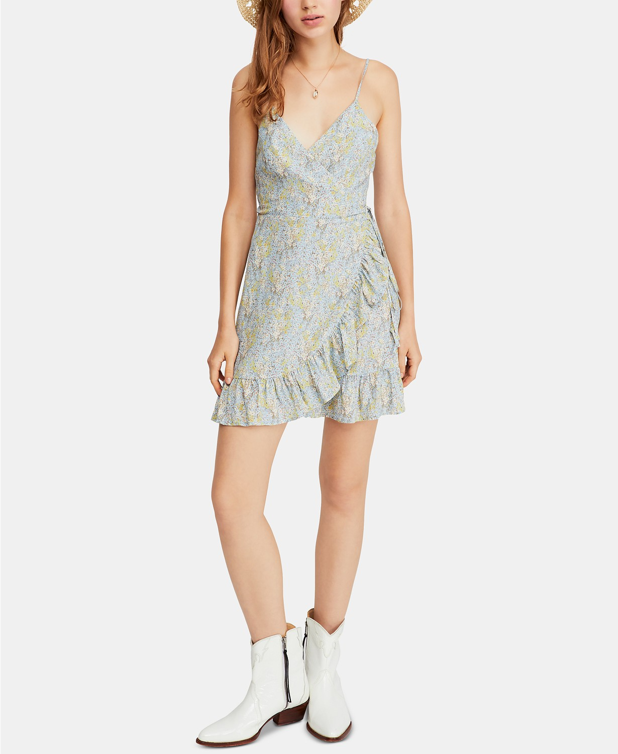 Cutest Dresses - Free People All My Love Printed Wrap Dress