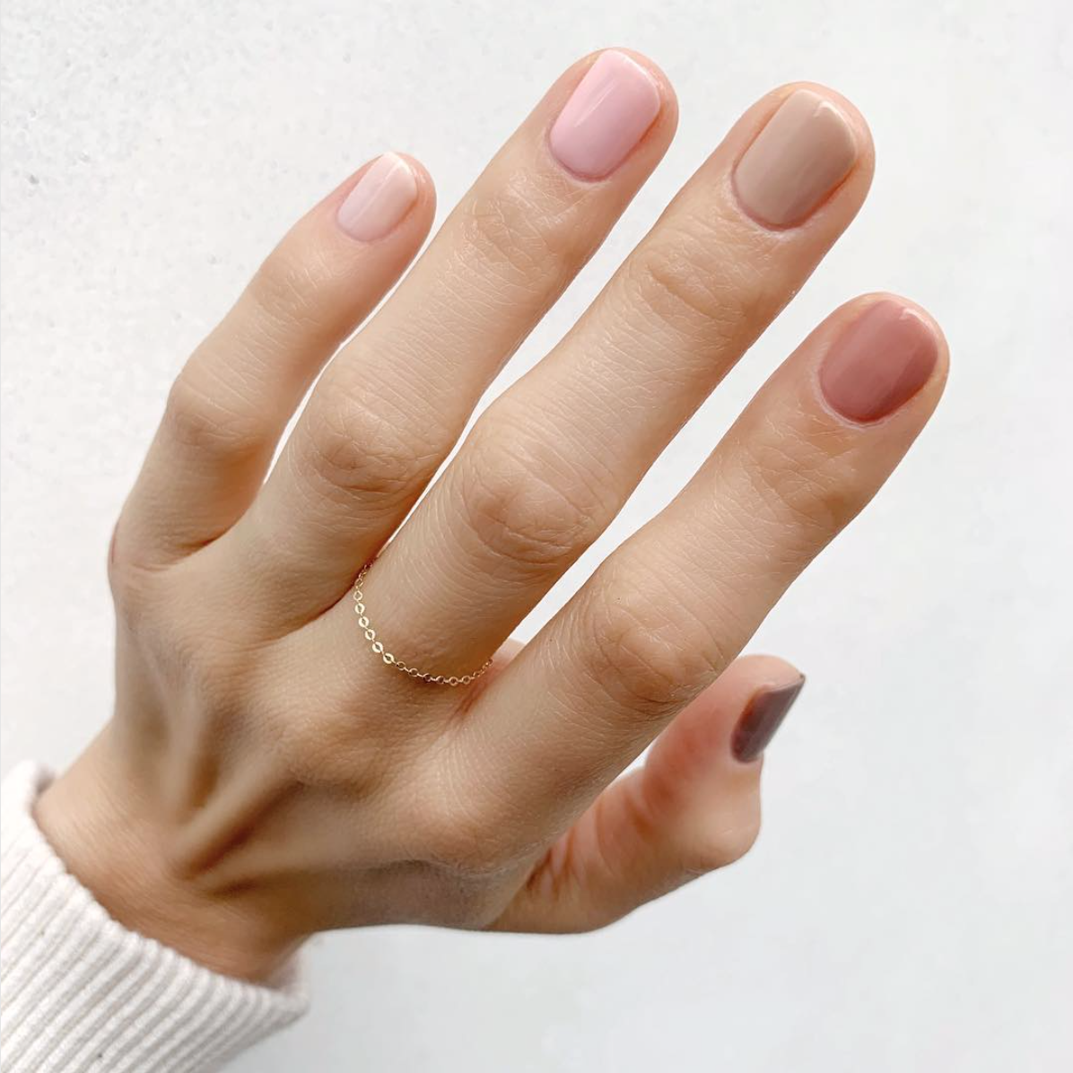 Neutral Pro gradient nails - Rainbow Mani