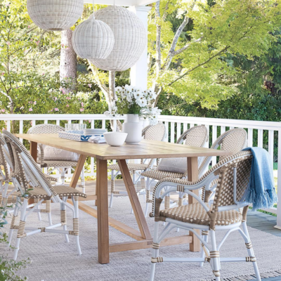 Outdoor Patio Design - Serena and Lily Riviera Chairs