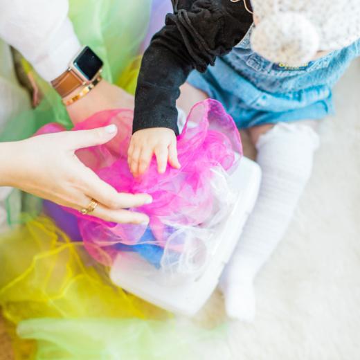 DIY Colorful Scarf Magic Wipes Box Sensory Toy