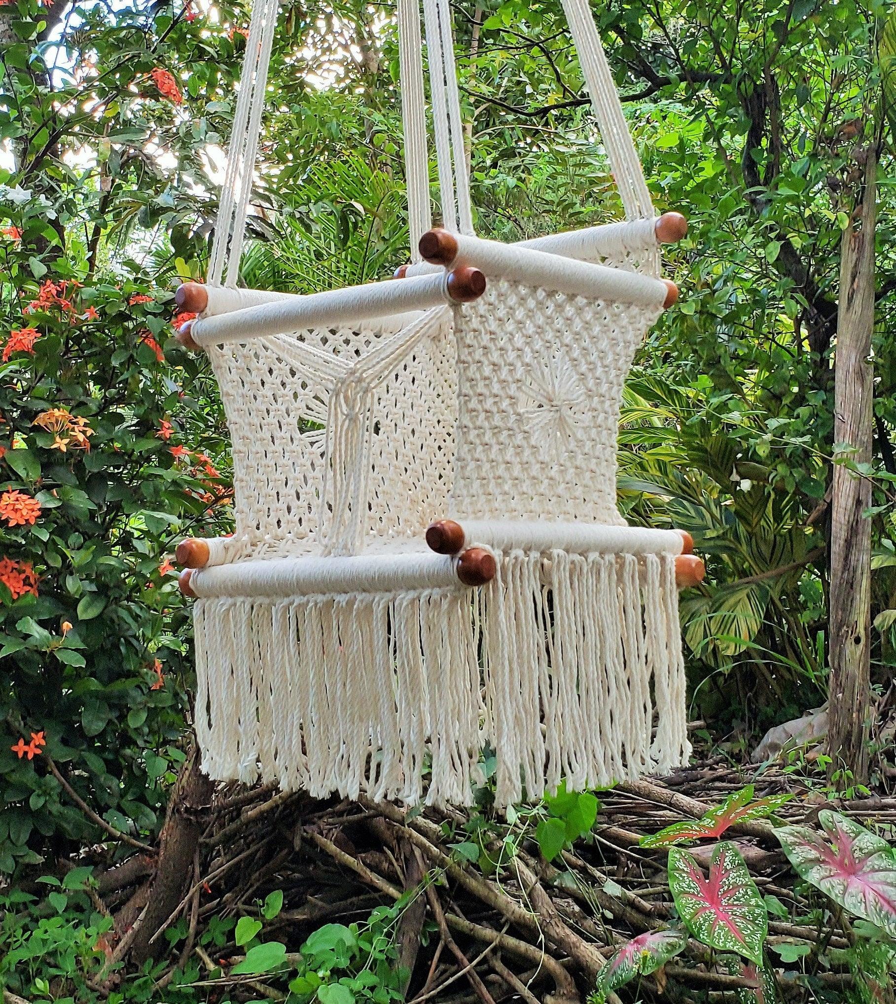 Baby Hammock Chair Cotton Handmade Macrame