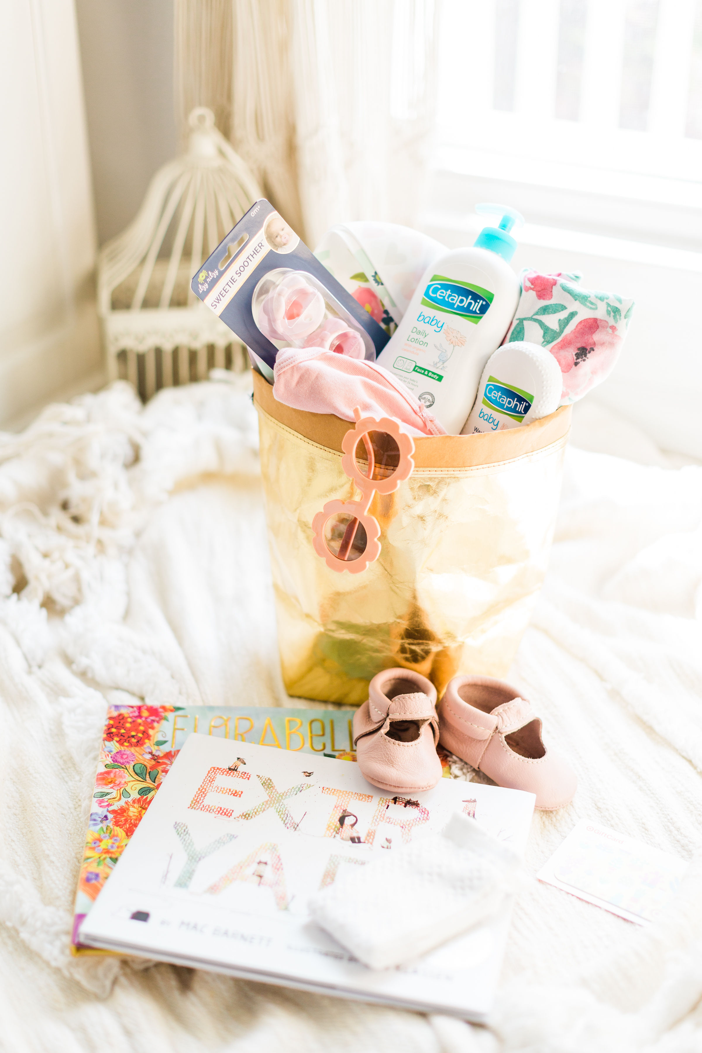 How to put together the cutest DIY baby shower gift basket that is not only memorable and sweet, but every part of the basket is super useful and functional.