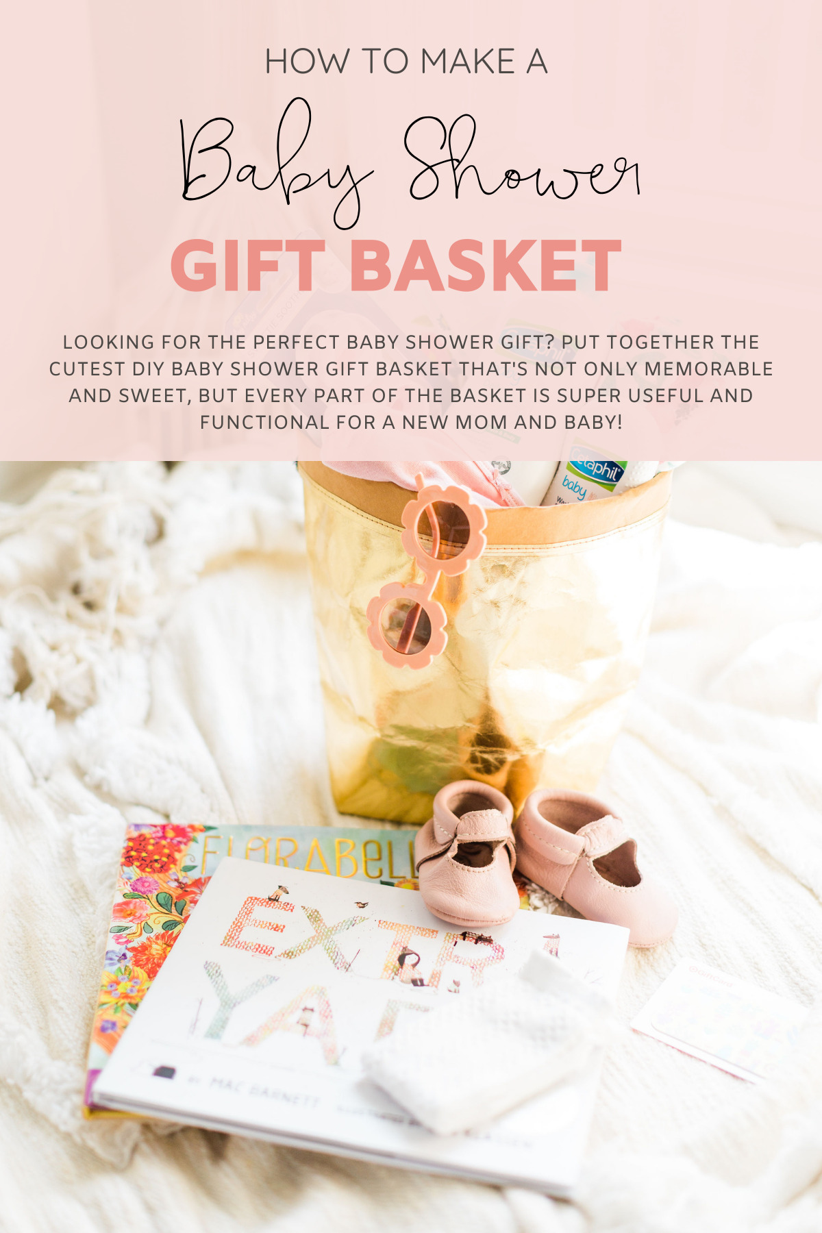 Looking for the perfect baby shower gift? We're sharing how to put together the cutest DIY baby shower gift basket that's not only memorable and sweet, but every part of the basket is super useful and functional, plus, exactly what to put in a baby shower gift basket.   @glitterinclexi   GLITTERINC.COM