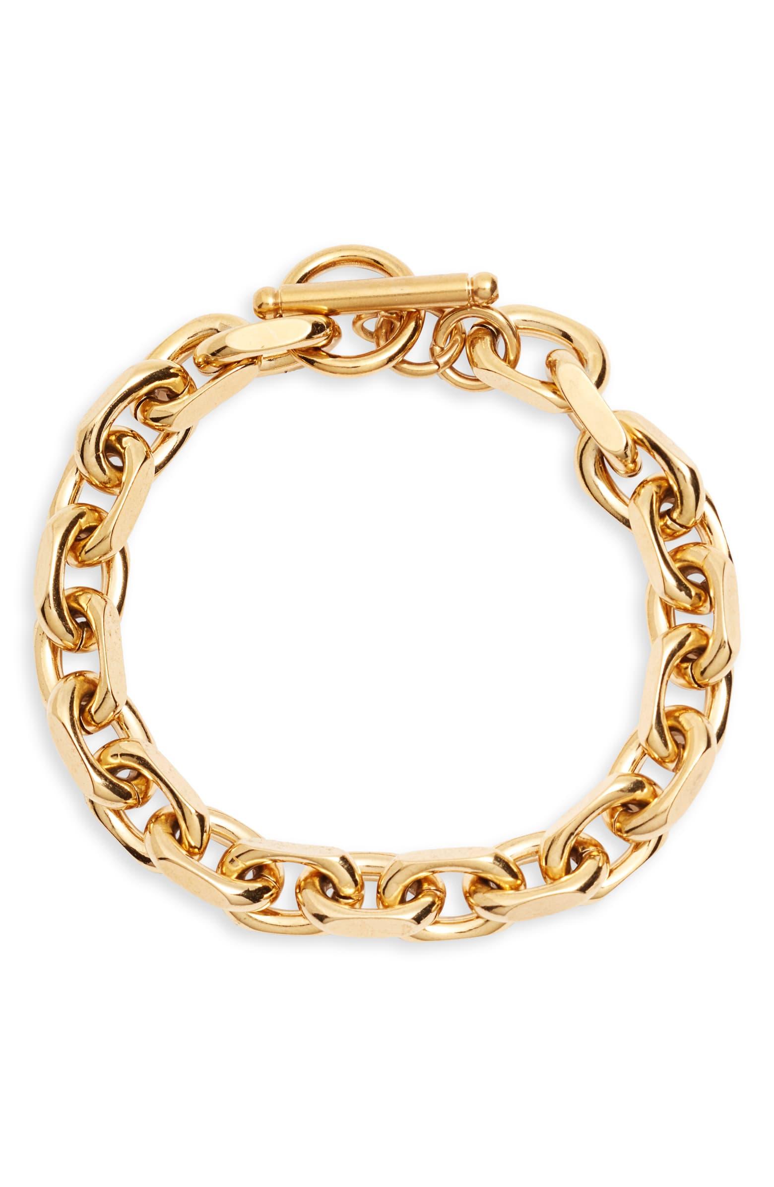 ELLIE VAIL Maddox Gold Toggle Bracelet