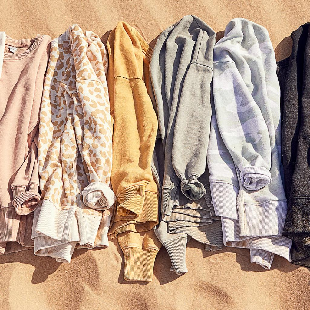 AERIE Desert Sweatshirt in Colors and Leopard Print, favorite weekly finds