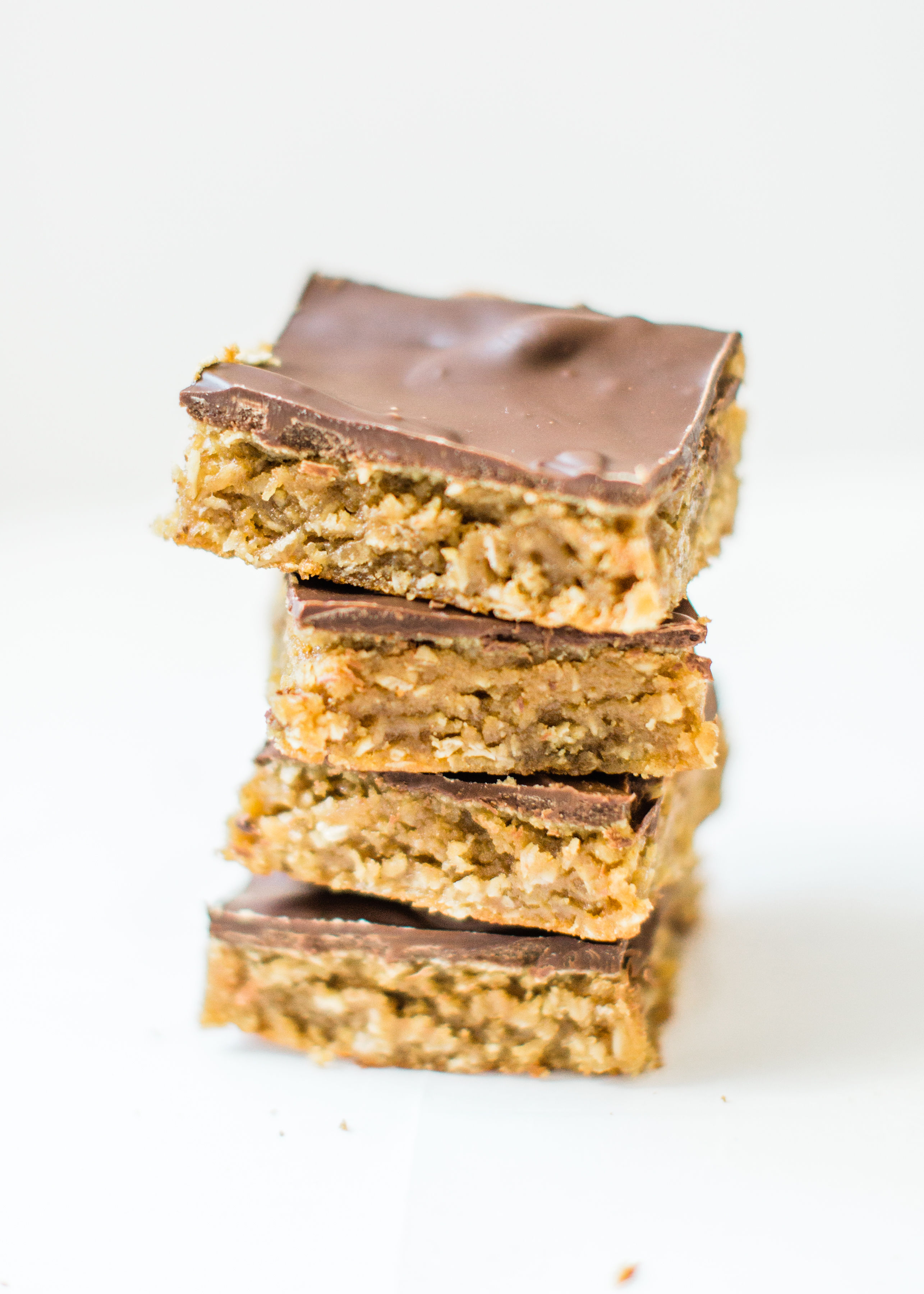 Sheet Pan Chocolate Peanut Butter Oatmeal Cookie Bars