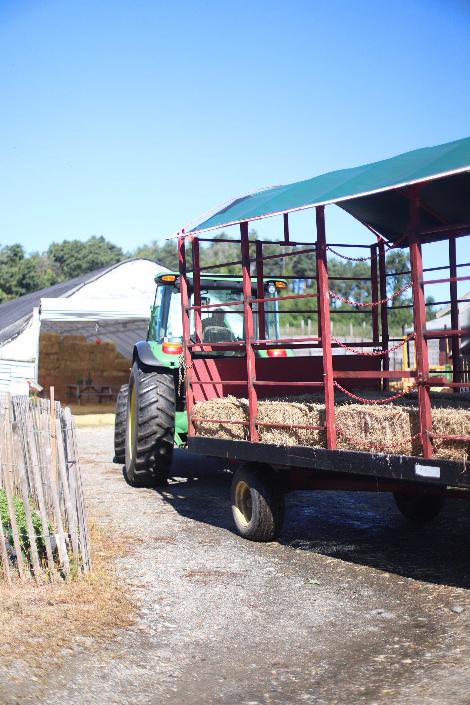 Hayride at the orchard at Brooksby Farm in Peabody, Massachusetts // Fall Bucket List | glitterinc.com | @glitterinc