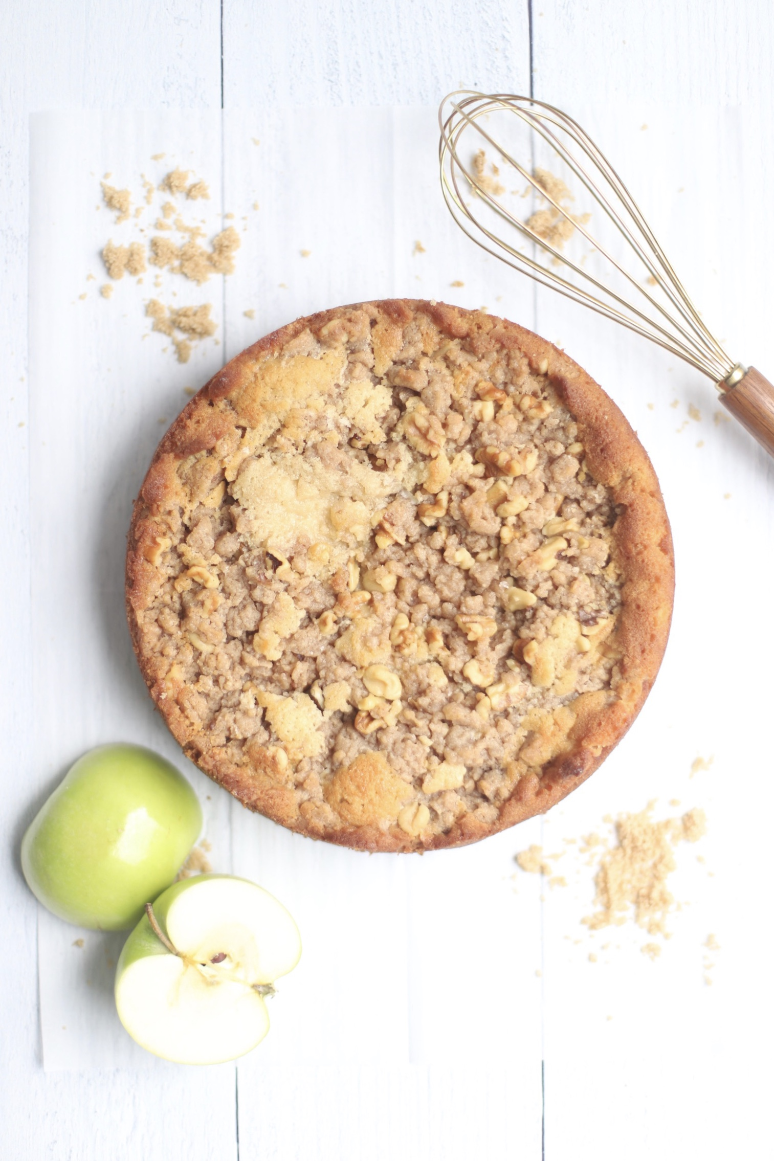 whole apple crumb cake