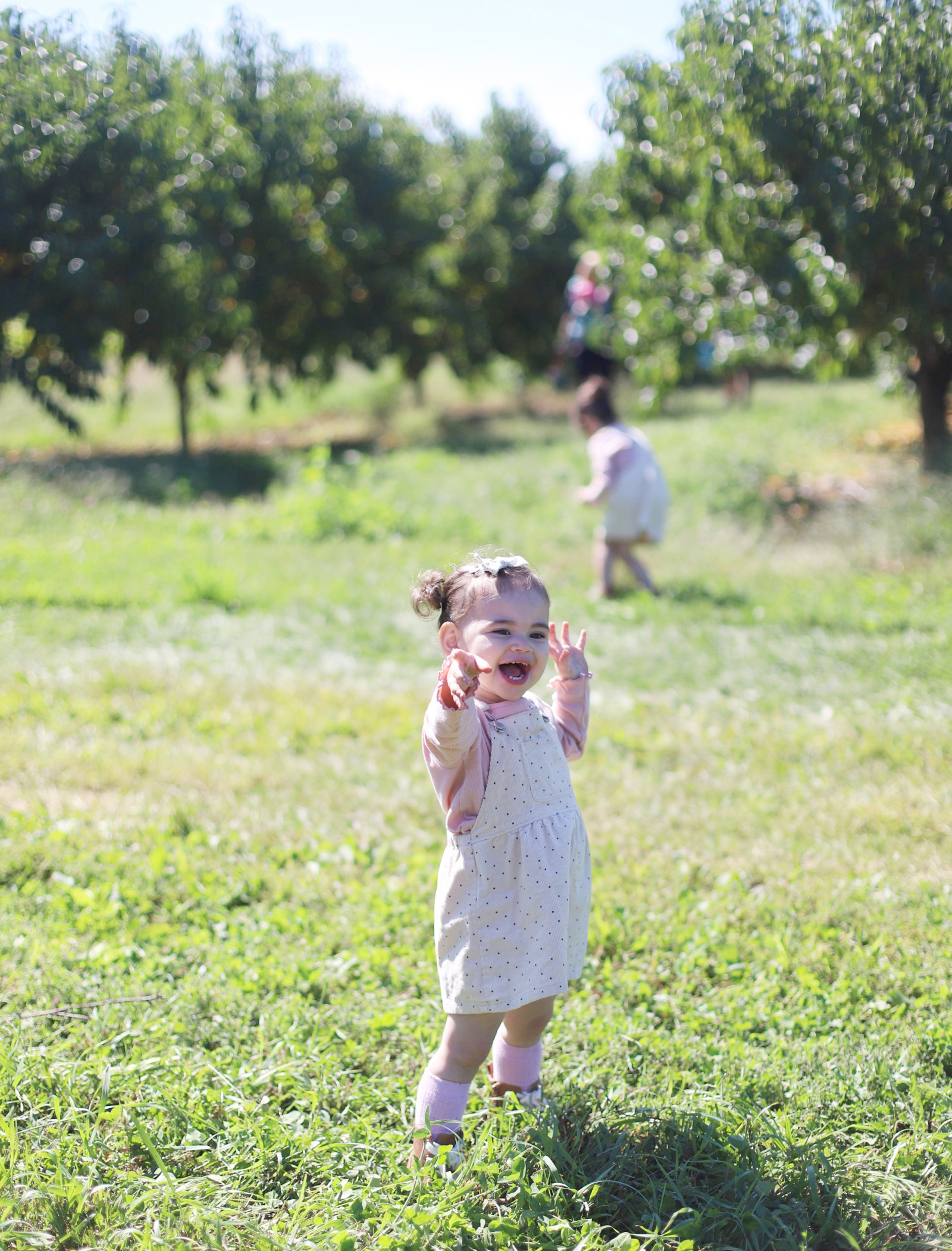A little girl enjoying at Brooksby Farm in Peabody, Massachusetts // Fall Bucket List | glitterinc.com | @glitterinc