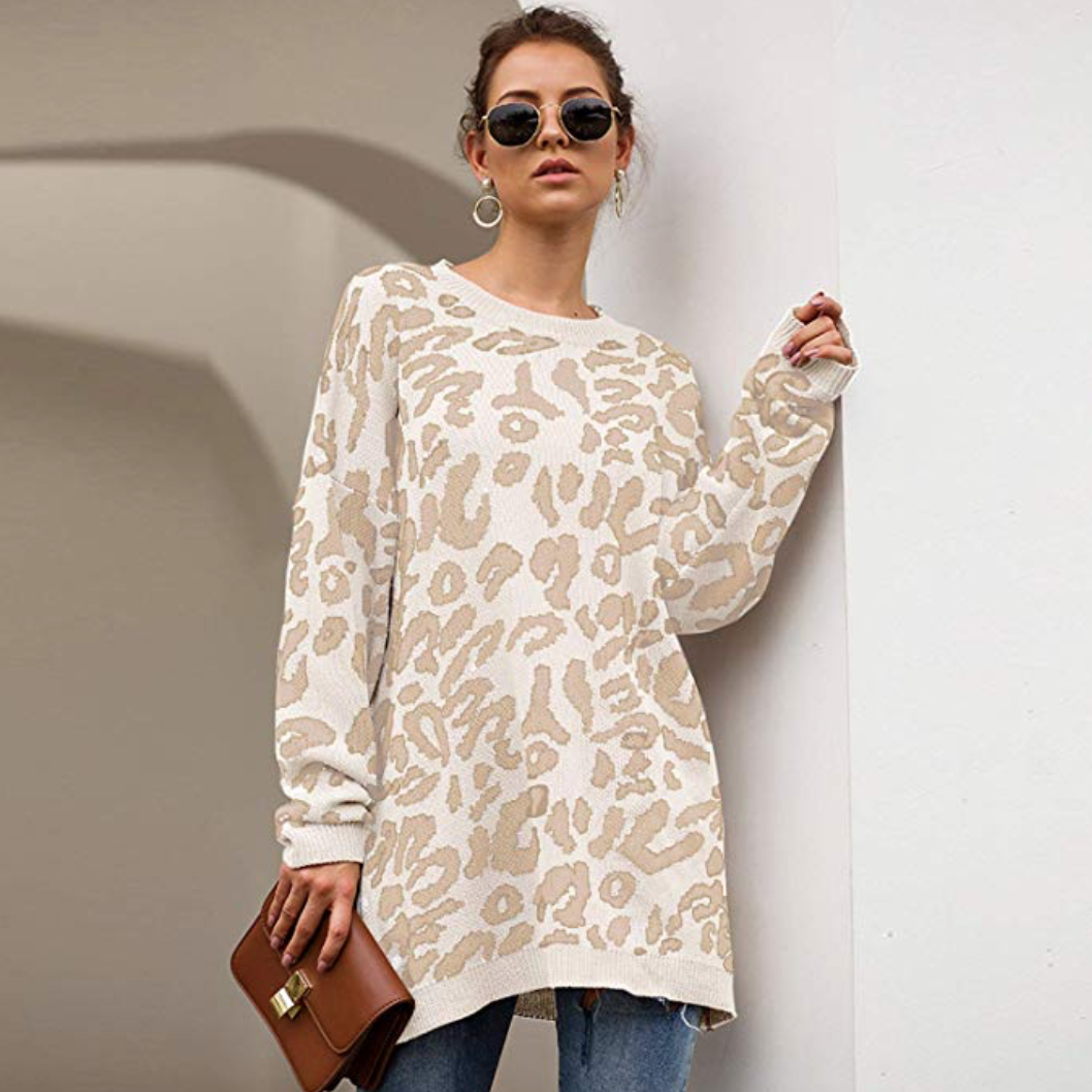 Leopard Print Chic Pullover Sweaters