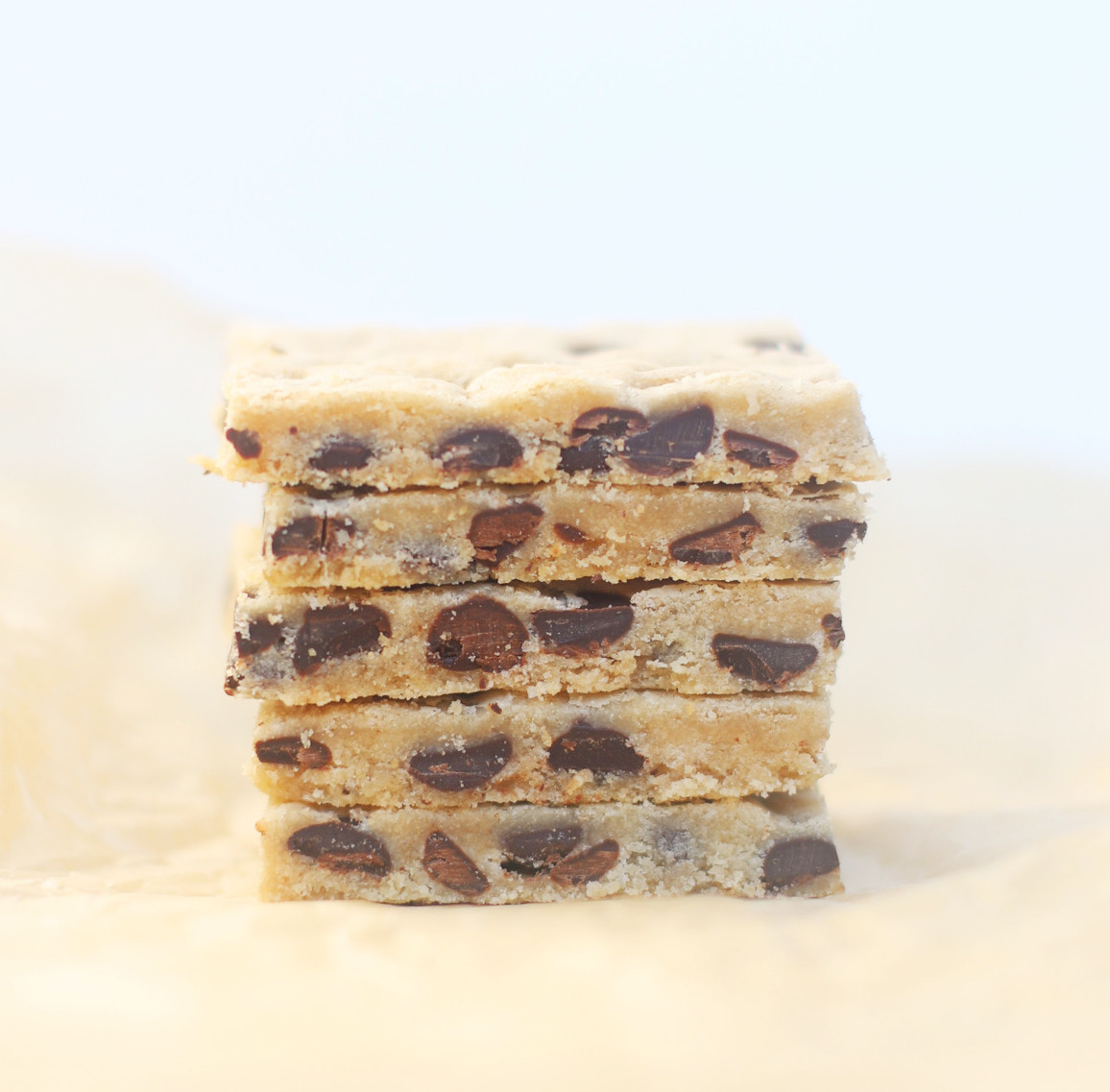 The Yummiest Vegan Chocolate Chip Cookie Bars