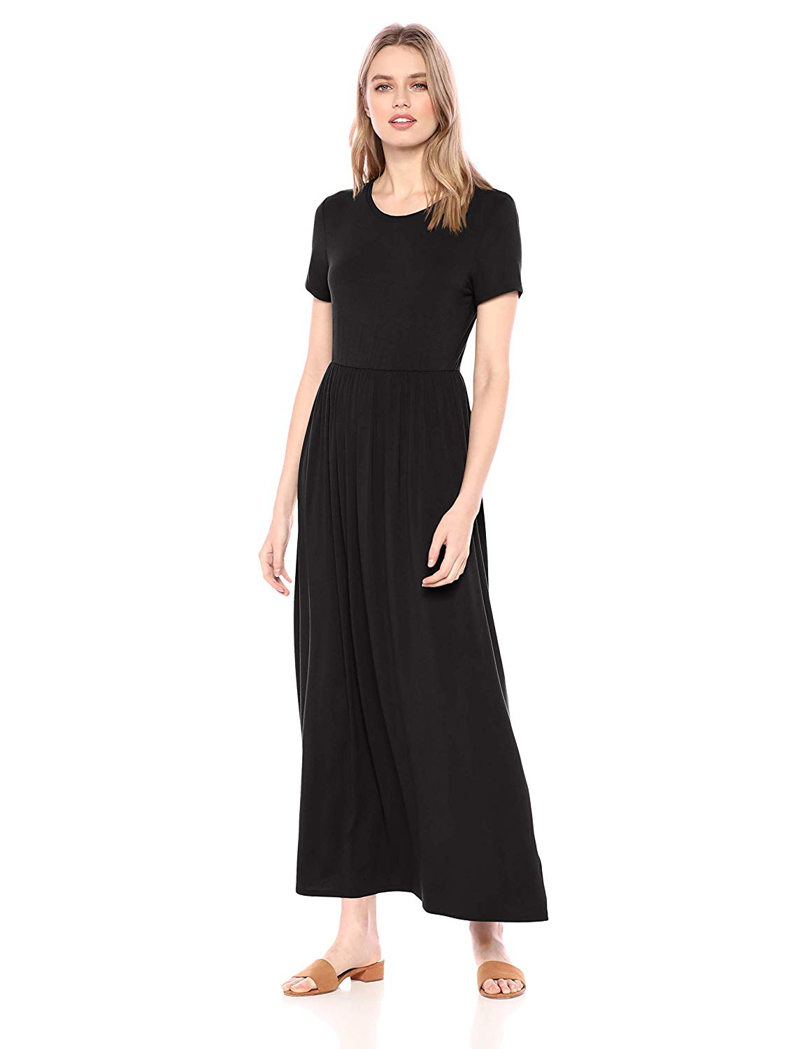 15 Stylish Dresses From Amazon Women's Short-Sleeve Waisted Maxi Dress