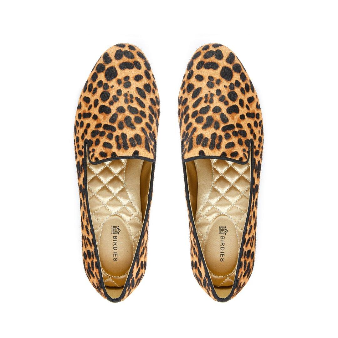 Birdies The Starling in Cheetah Calf Hair - The Comfiest Cheetah Flats