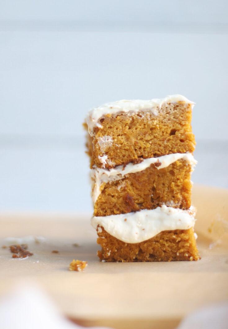 Gluten-Free Pumpkin Sheet Cake with Cream Cheese Frosting
