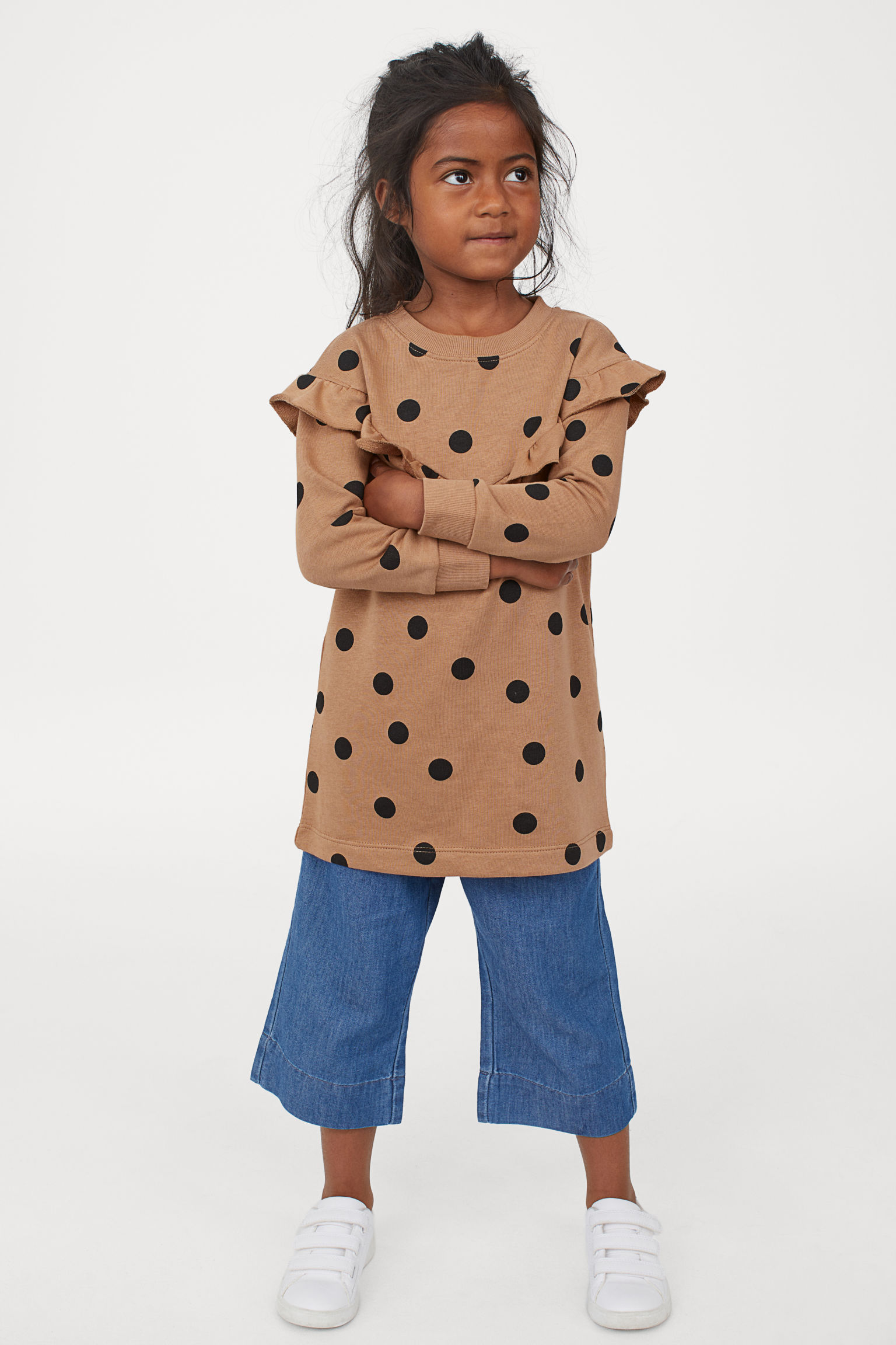 H&M Girls Flounced Sweatshirt Dress - Weekly finds, The Comfiest Cheetah Flats