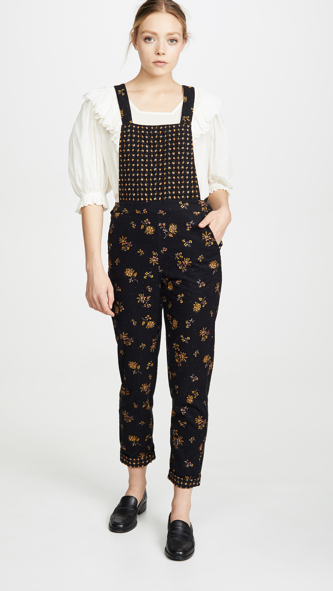 Madewell Cord Floral Overalls - Weekly finds, The Comfiest Cheetah Flats