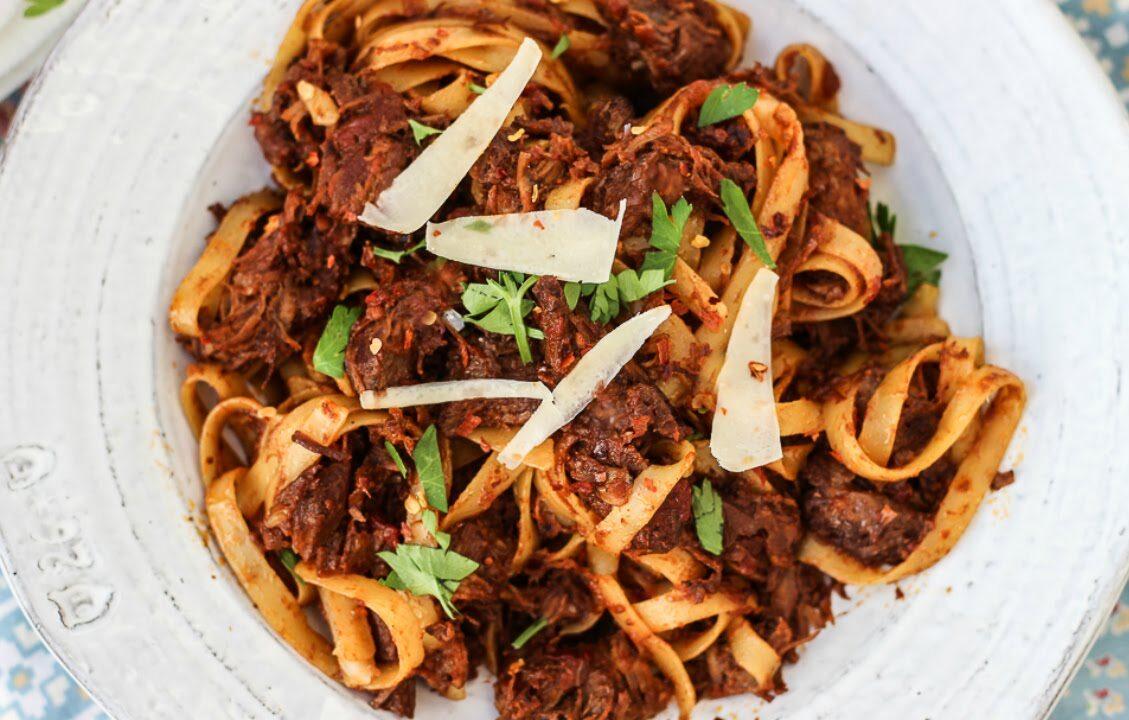 Birthday Dinner Ideas - Braised Beef Shank Pasta